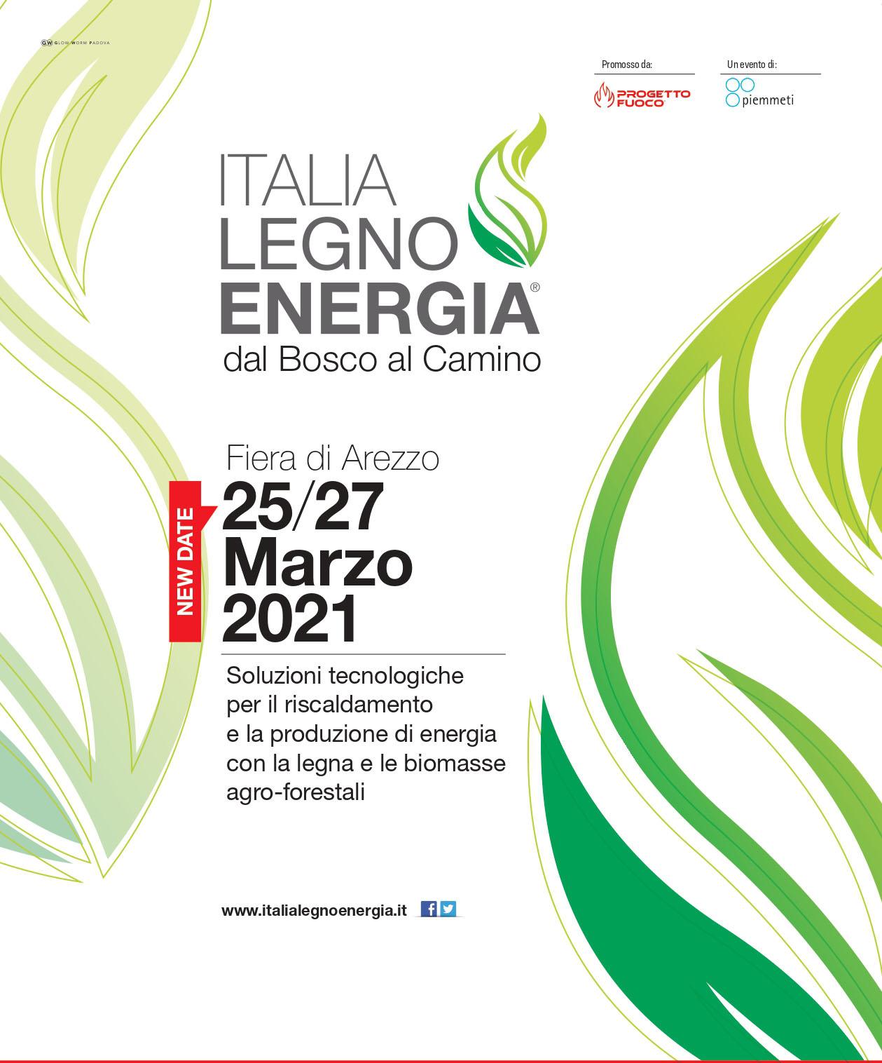 Locandina ILE dell'edizione 2021 Italia Legno Energia