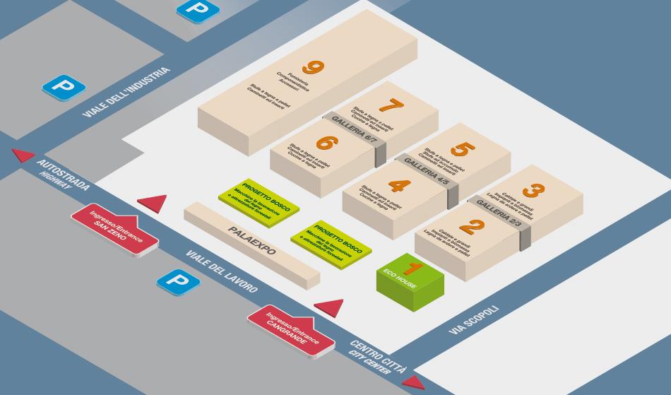 Mappa Padiglioni Progetto Fuoco 2020